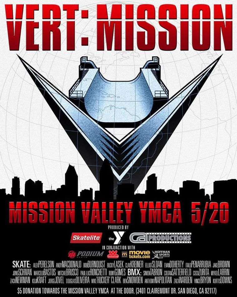 X-Games Vert qualifier at Mission Valley this Saturday 20 May 2017.