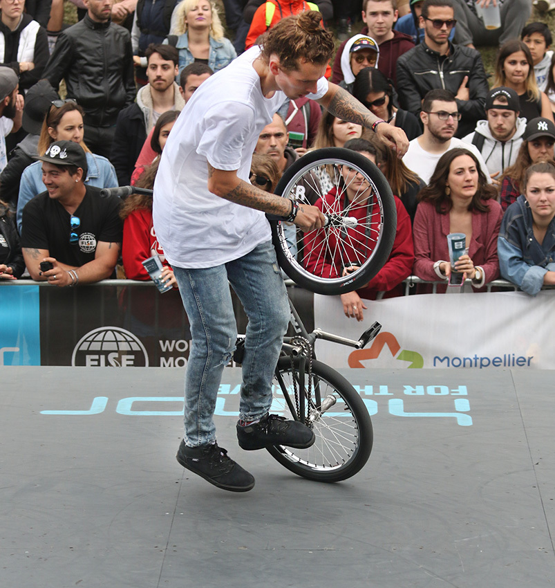 UCI BMX Flatland World Cup Final results. Montpellier, France.