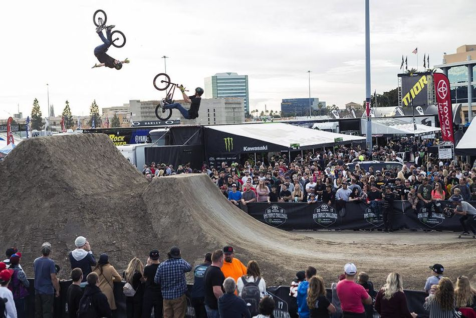 BMX Dirt at the Supercross event in Anaheim.