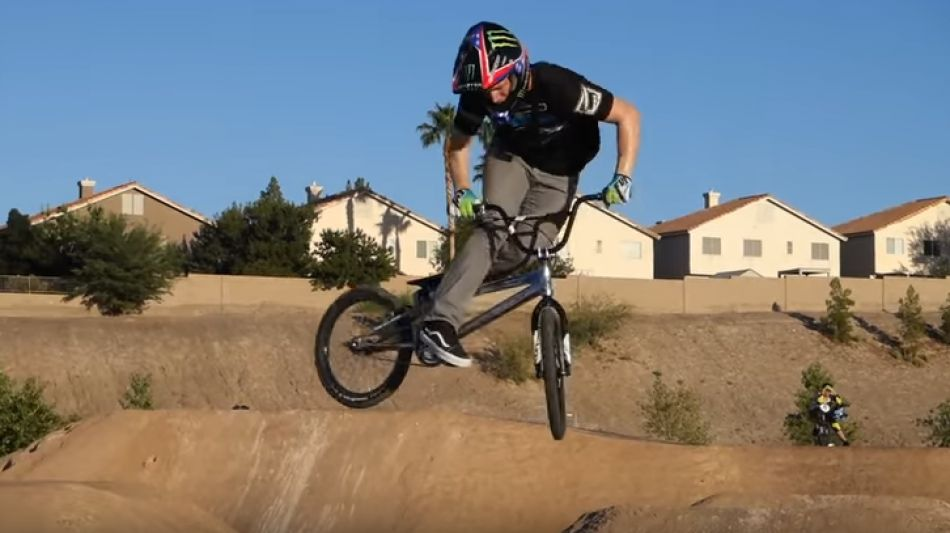 Connor Fields at BMX Pump track and Trails by Connor Fields