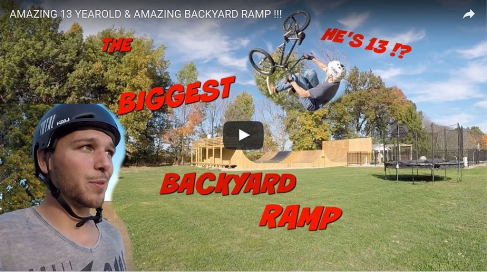 FATBMX KIDS: AMAZING 13 YEAR OLD & AMAZING BACKYARD RAMP! By Nick Bruce BMX