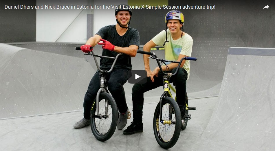 Daniel Dhers and Nick Bruce in Estonia for the Simple Session X Visit Estonia adventure trip by simplesession