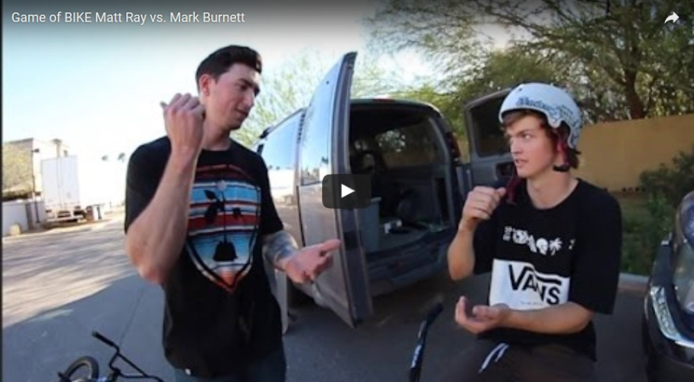 Game of BIKE Matt Ray vs. Mark Burnett by Bobby Kanode