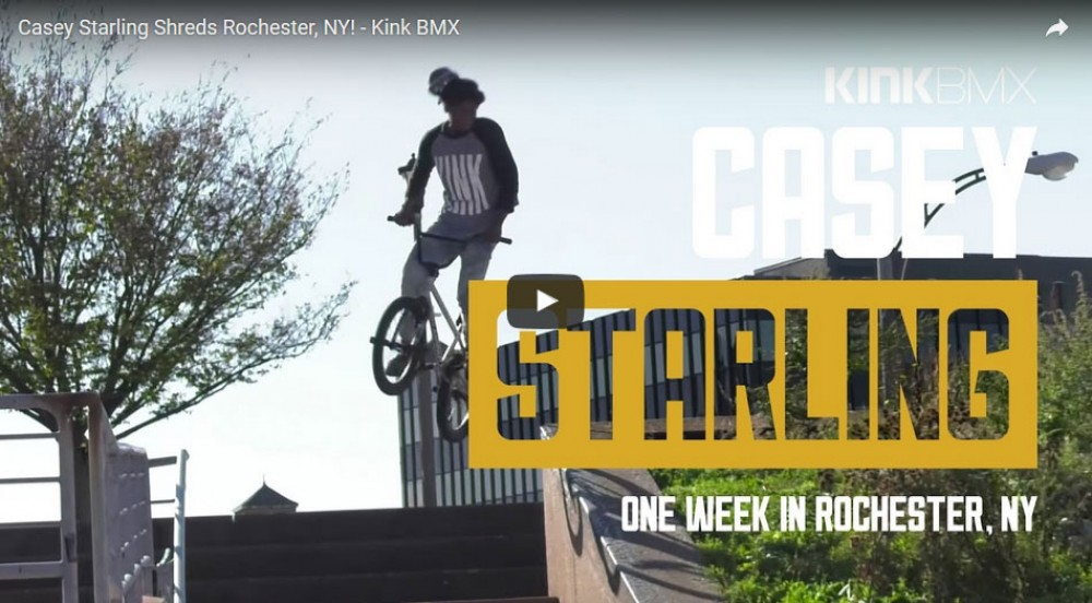Casey Starling Shreds Rochester, NY! by Kink BMX