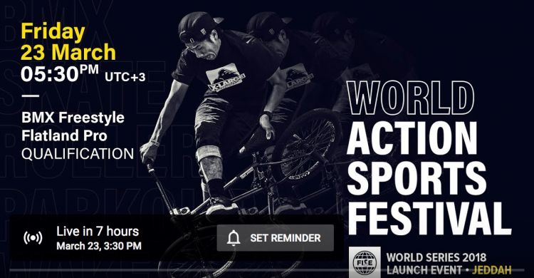 FWS 2018 LAUNCH EVENT JEDDAH: BMX Flatland Pro Qualification