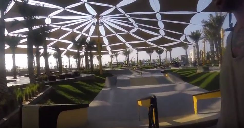 XDubai Skatepark Tour (with a BMX in an Audi R8) by Mat Armstrong