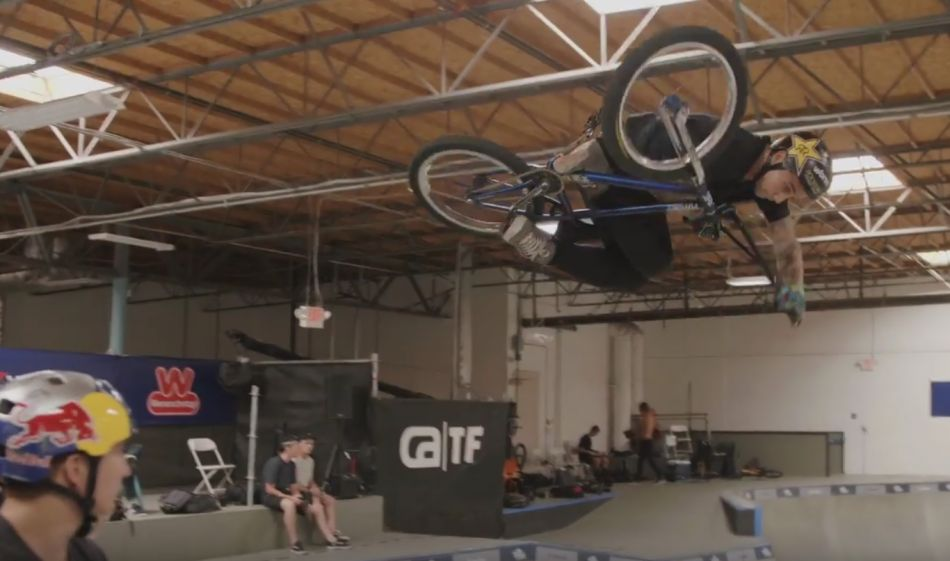 BMX EVENT AT AN INDOOR CEMENT PARK? NITRO WORLD GAMES PARK PRACTICE by Ride BMX