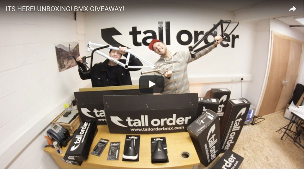 ITS HERE! UNBOXING! BMX GIVEAWAY! By Tall Order BMX