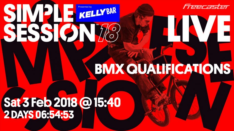 Live webcast of Simple Session 18 qualifiers on FATBMX this Saturday