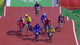 Thrills and spills of the BMX riders' fight for gold in Rio  from Christopher Schwarz
