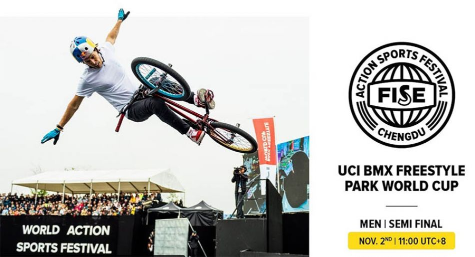 LIVE on FATBMX: FISE CHENGDU 2019: UCI BMX Freestyle Park World Cup Men Semi Final