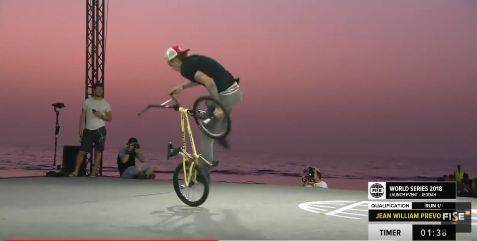 Jean William Prevost | 1st BMX Flatland Qualifier - FISE Jeddah 2018 by FISE