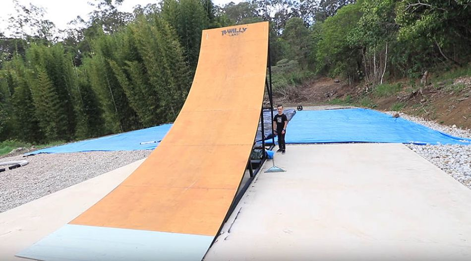 8 YEAR OLD vs BACKYARD MEGA RAMP! by Ryan Williams