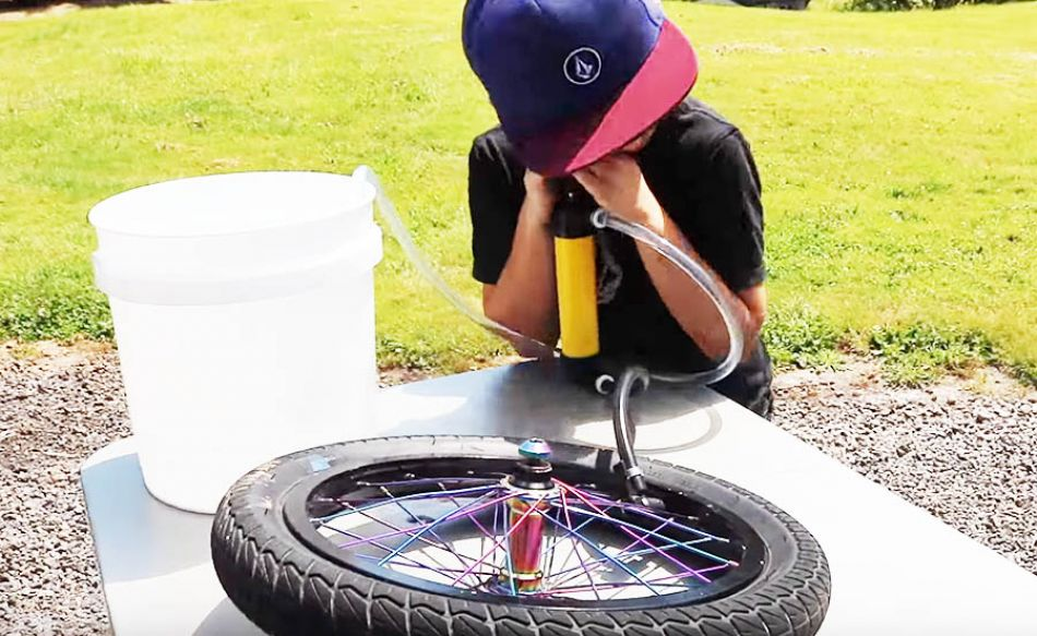 Filling My Tires With WATER! Can I Ride it?! by Bmx Caiden