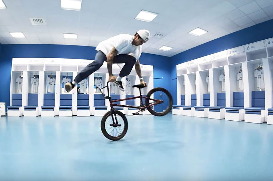 BMX riding inside the Orange Velodrome! by Matthias Dandois