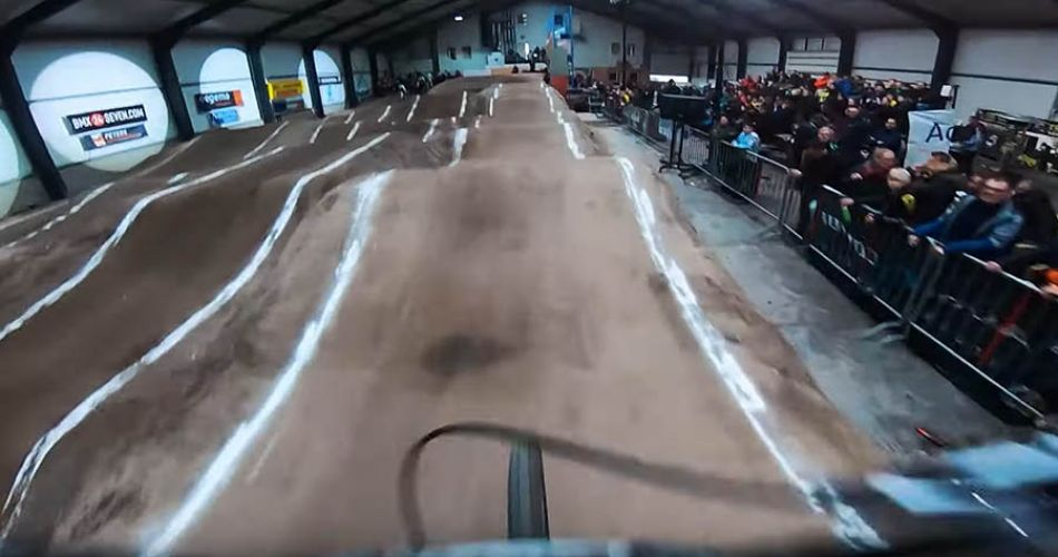 GoPro POV - KIMMANN INDOOR NO CHAIN BMX RACE by Justin Kimmann