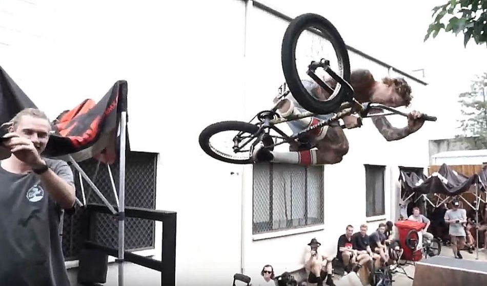 LUXBMX game of bike, hosted by Boyd Hilder. Jon Mackellar vs Matt Vaux
