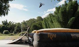 HIS 1ST TIME HITTING THE MEGA RAMP ON BMX! by Ryan Williams