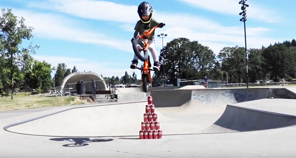 Soda Can Height Jump Challenge! by Bmx Caiden