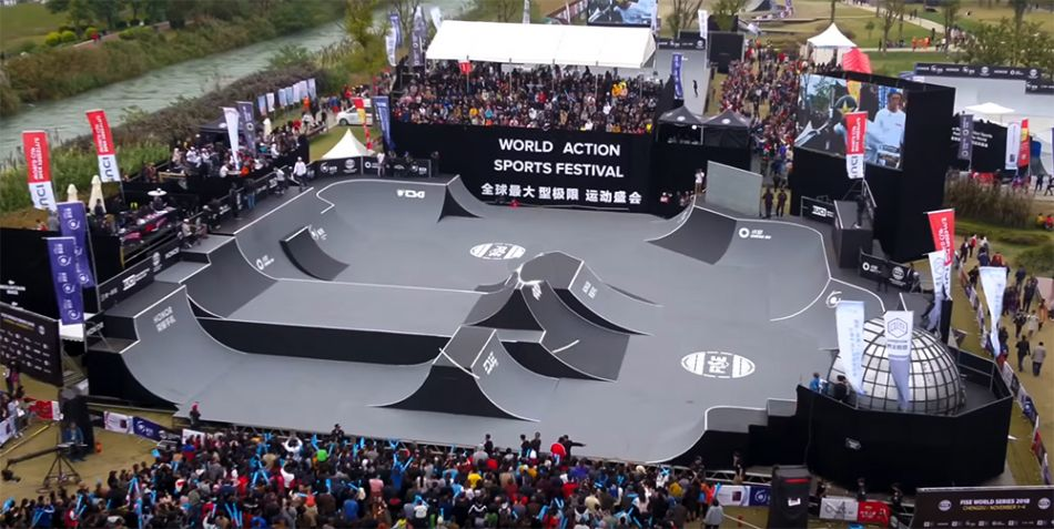 Freestyle BMX Park Course Example for the Olympic Course