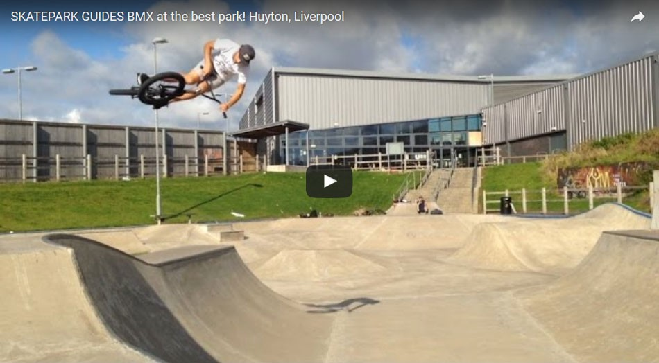 SKATEPARK GUIDES BMX at the best park! Huyton, Liverpool by Skatepark Guides