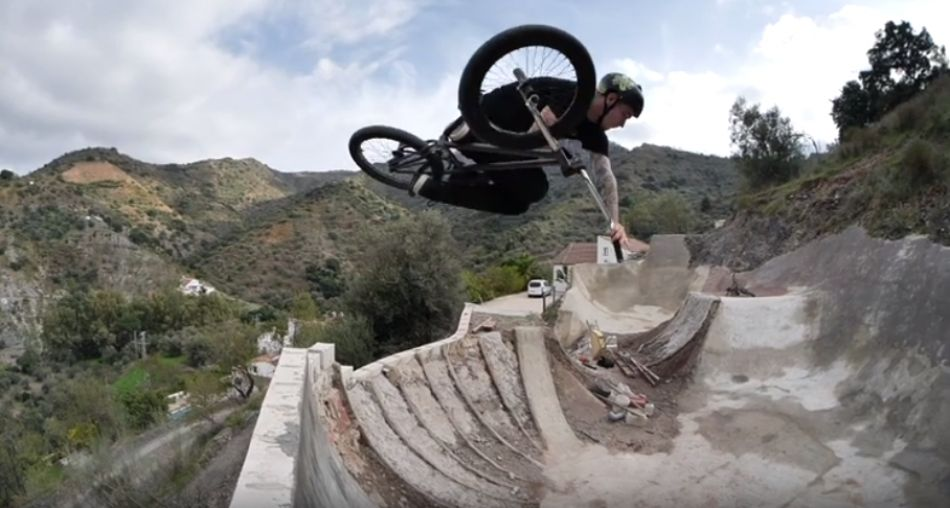 48 YEAR OLD BMXER MADE SKATEPARK IN THE MOUNTAINS! by OlaBMX