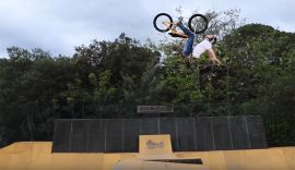 Unbelievable backflip! tall order day 2 In BMX paradise by Sebastian Keep