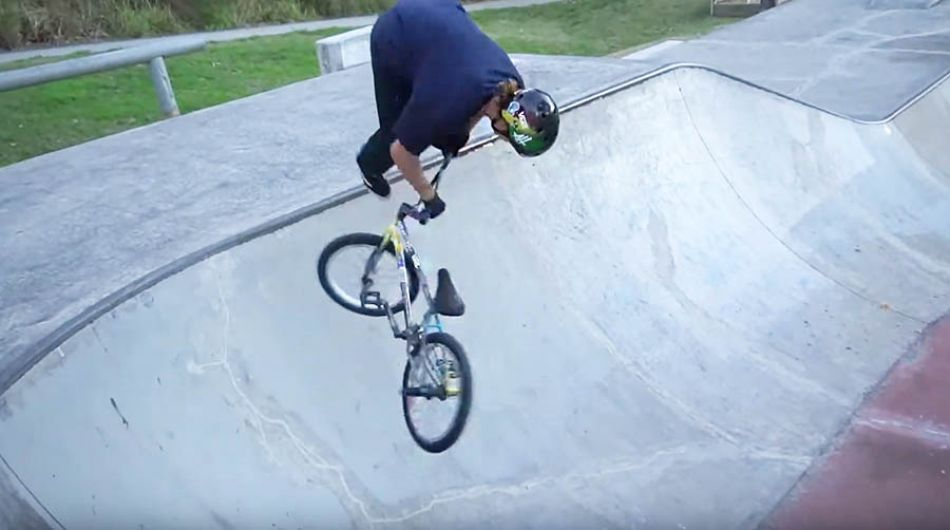 Alex Hiam Landing Fakie Tricks For Fans! by LUXBMX