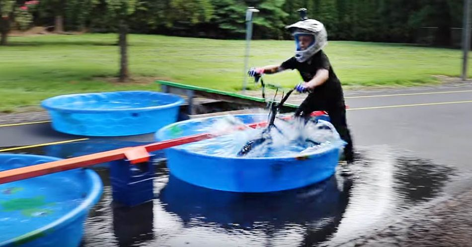 BMX Pool Obstacle Course! by Bmx Caiden