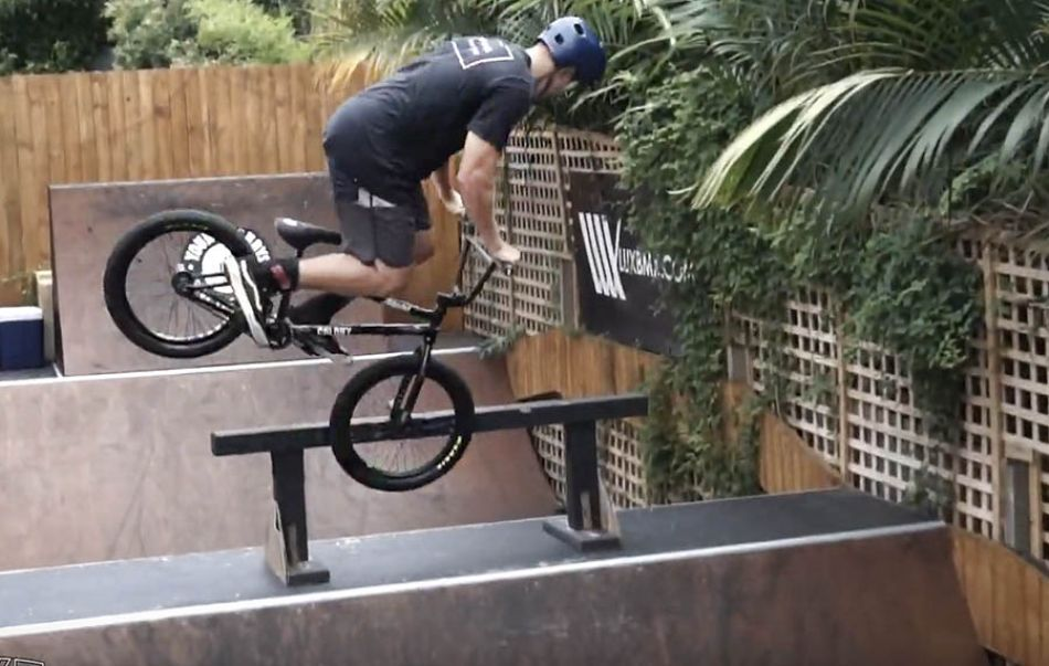 LUXBMX game of bike hosted by Boyd Hilder. Jay Loennker vs Mitch Campbell