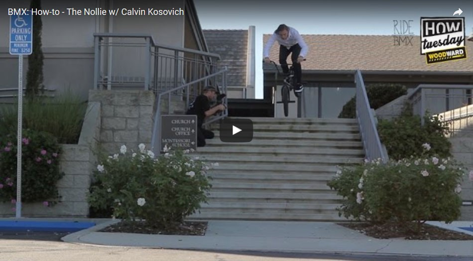 How-to - The Nollie w/ Calvin Kosovich. By Ride BMX