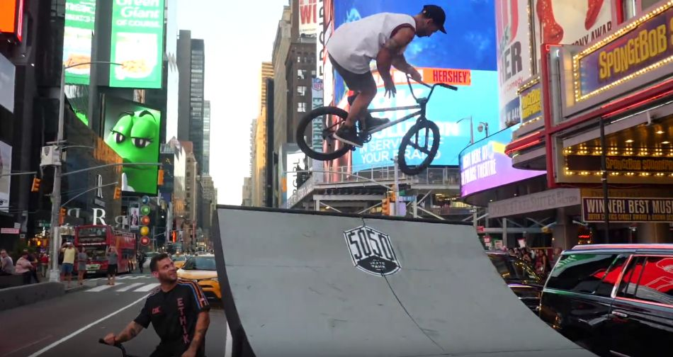 HALF-PIPE IN TIME SQUARE by Austin Augie