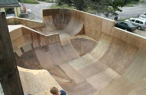 Backyard Bmx Ramps september 2005: carlo griggs add ramps in his backyard.