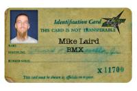 Mike Laird ID card