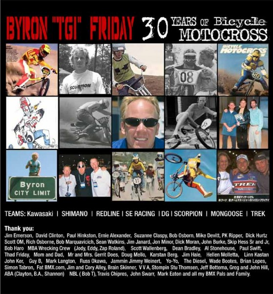 Byron Friday 30 year poster