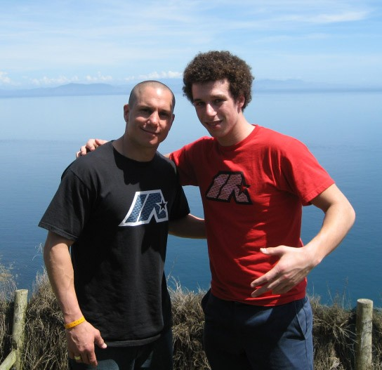 Dave Mirra and Mike Spinner in New Zealand