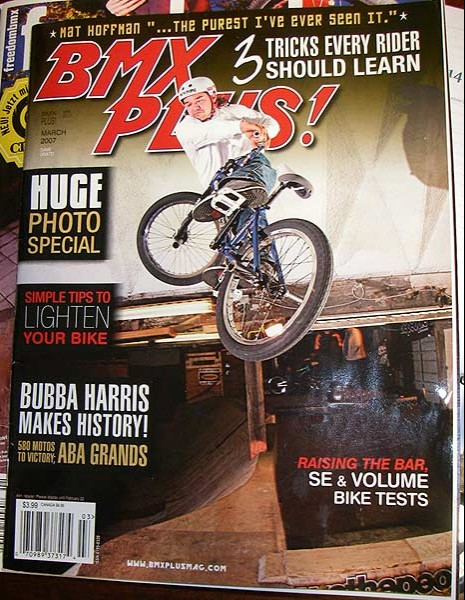 Dave Osato on the cover of BMX Plus magazine