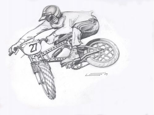 BMX drawings by Outlaw  Good shit