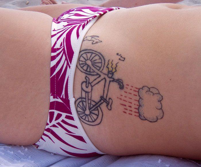 Chubby pin-up girl tattoos