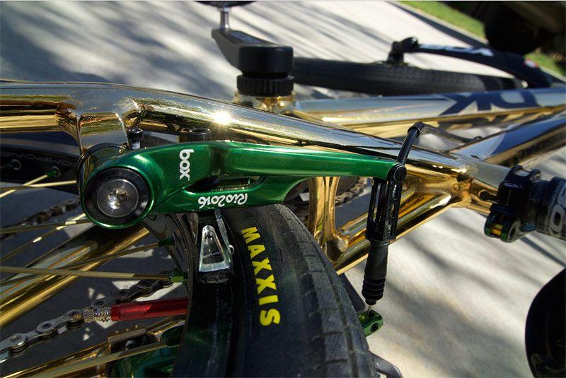 Bike Check: Caroline Buchanan GREEN & GOLD Olympic Bike